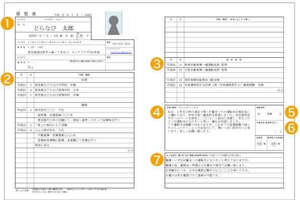 履歴 書 運転 免許
